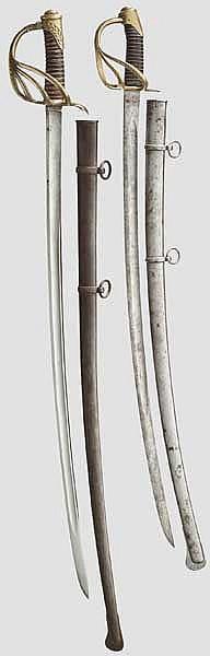 Säbel M 1822 für Offiziere der leichten Kavallerie