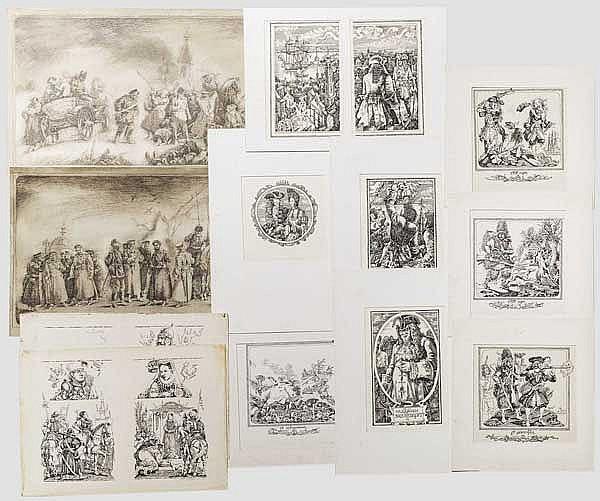 Oleg Arkadievich Litvinov (geb.1957) - 31 Blatt mit Tuschezeichnungen für Buchillustrationen, zwischen 1980-90