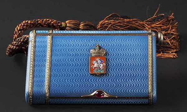 A Russian deluxe vermeil cigarette case, circa 1910