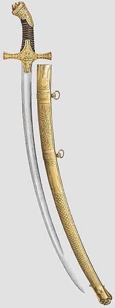 Prunksäbel für einen Tambourmajor, 1852 - 1870