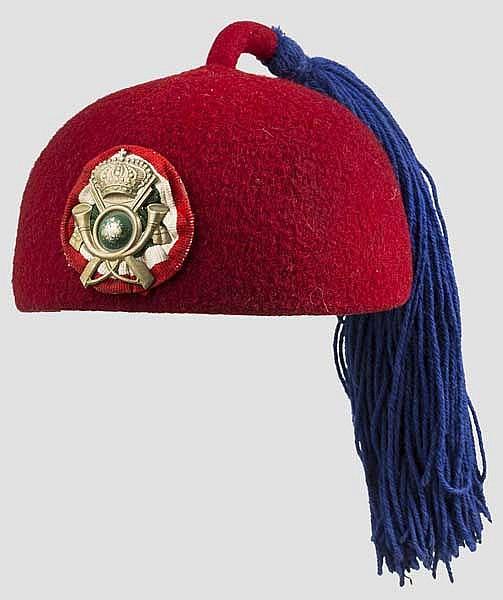 Fez für Mannschaften der Kolonial-Infanterie, 1. Hälfte 20. Jhdt.