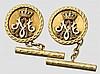 Alexander I., König der Serben, Kroaten und Slowenen (1888 - 1934) - ein Paar goldene Manschettenknöpfe, um 1922