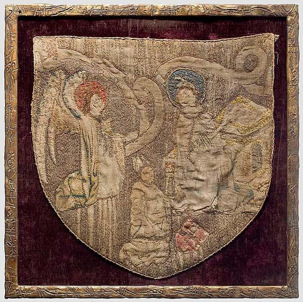 Kronprinz Rudolf von Österreich - gestickte Rückenpartie einer gotischen Pluviale