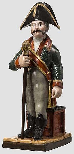 Figur eines Hofmarschalls, Manufaktur Popov, Russland, Mitte 19. Jhdt.