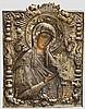 Prunkvolle Ikone der Gottesmutter, Russland, 1. Drittel 19. Jhdt.