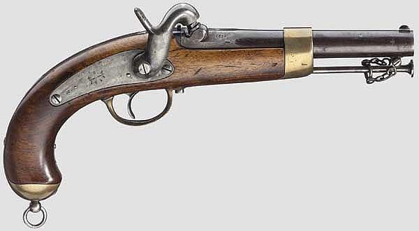 Marinepistole, ähnlich der frz. M 1837