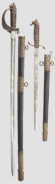 Säbel und Seitengewehr für Angehörige der Royal Navy
