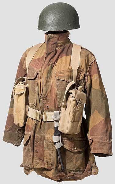 Uniformensemble eines brit. Fallschirmjägers im Zweiten Weltkrieg