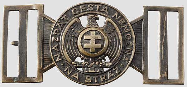 Feldbindenschloss für Offiziere der Hlinka-Garde, um 1940