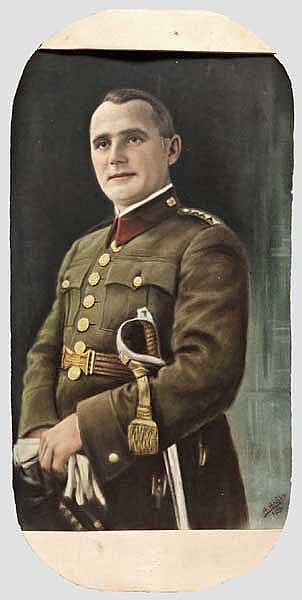Francisco Franco - frühe Portraitzeichnung, datiert 1933