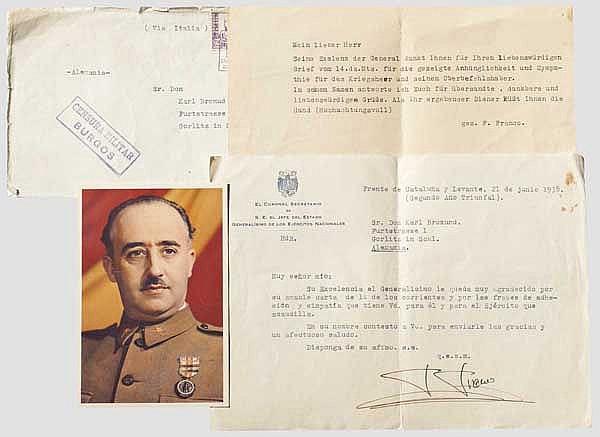 Francisco Franco (1892 - 1975) - Dokumente und Autograph