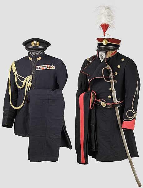Uniform- und Ausrüstungsensemble eines japanischen Offiziers im 2. Weltkrieg