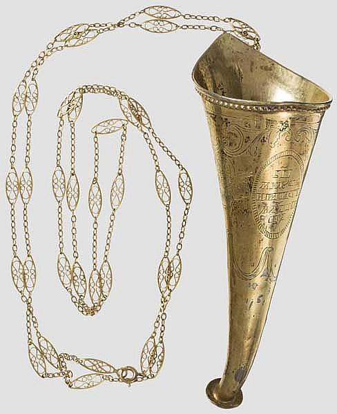 Grand Duchess Olga Nikolaevna Romanova (1822 - 1892) - a personal, gilt silver