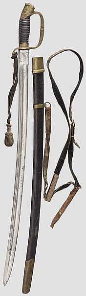 Schaschka M 1909 für russische Offiziere der Dragoner, mit Geschenkwidmung, Russland, datiert 1913