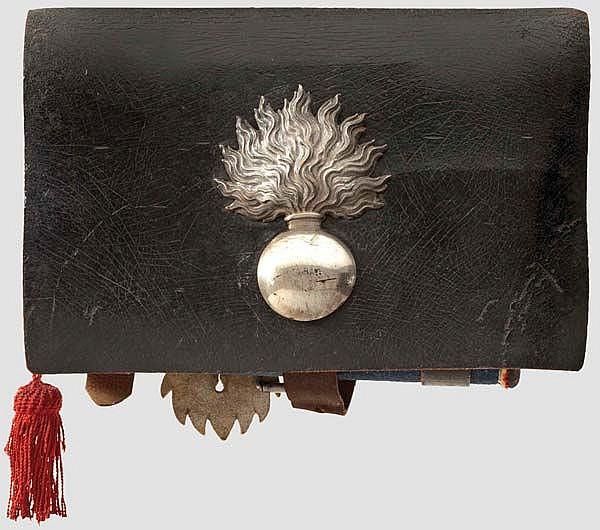A grenadier's cartridge box