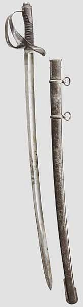 Säbel M 1860 für Unteroffiziere der Kürassiere und Karabiniers zu Pferde
