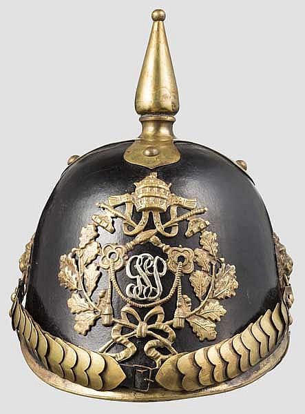 Helm für Mannschaften der päpstlichen Schweizergarde, 19. Jhdt.