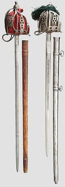 Zwei schottische Korbschwerter um 1900