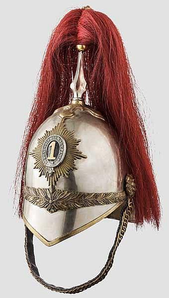 Helm für Mannschaften des 1st Dragoon Regiment, 2. Hälfte 19. Jhdt.