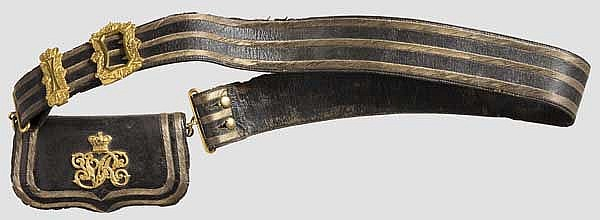 Kartuschkasten und Bandelier eines Offiziers um 1880