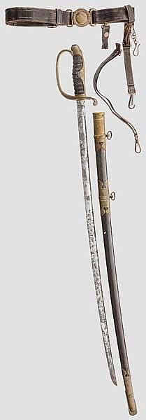 Säbel und Gehänge für einen japanischen Beamten, Meiji- bis frühe Taisho-Periode