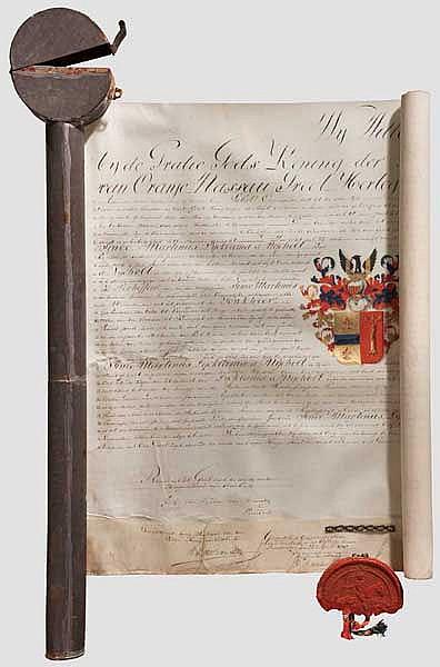 Adelsbrief für die Familie Lycklama à Nijeholt, Den Haag, 1817