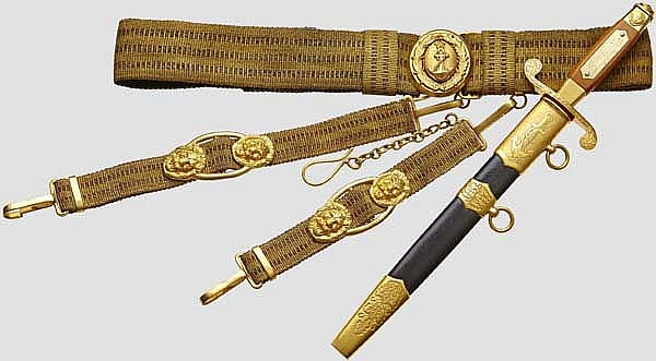 Rear Admiral Vsevolod Andreevitch Unkovsky (1884 - 1969) - a naval honour dagger, Soviet Union, dated 1954