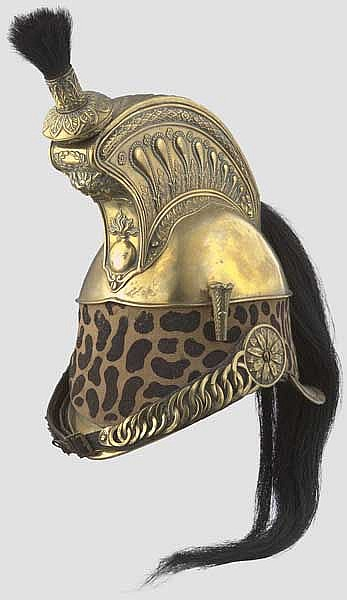 A model 1845 helmet for enlisted men of the French Dragoons