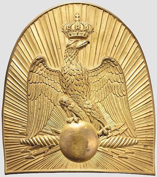 Beschlag für die Offiziers-Pelzmütze der Gendarmerie Impériale, Second Empire
