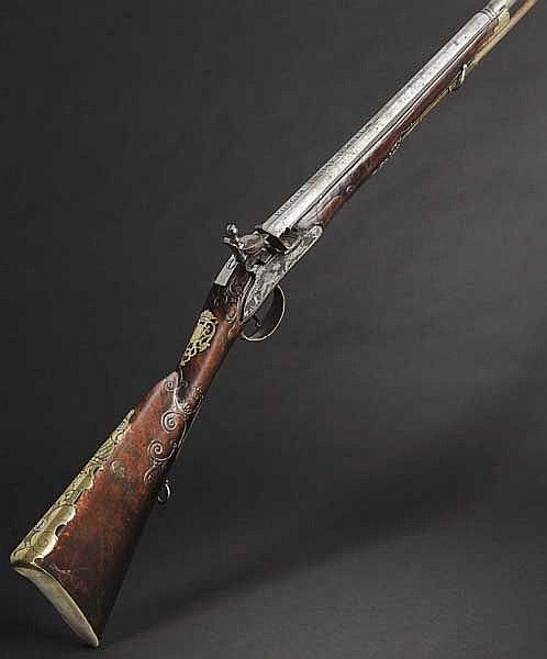 A Russian flintlock shotgun with internal cock, Master I. Makarischev, circa 1770