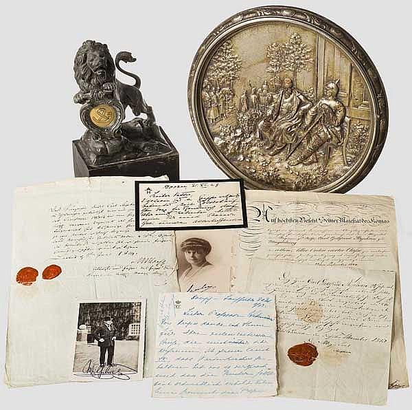 Gruppe Dokumente von den Befreiungskriegen bis zum 1. Weltkrieg, Löwe & Teller vom Krieg 1870