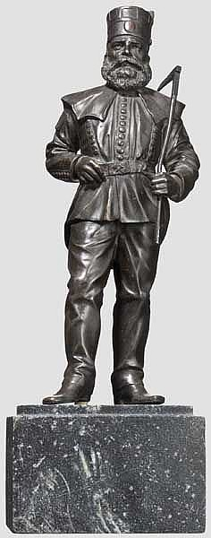 Figur eines deutschen Bergmanns aus Bronze