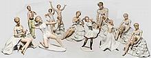 Wallendorfer Porzellan - zehn große Frauenfiguren