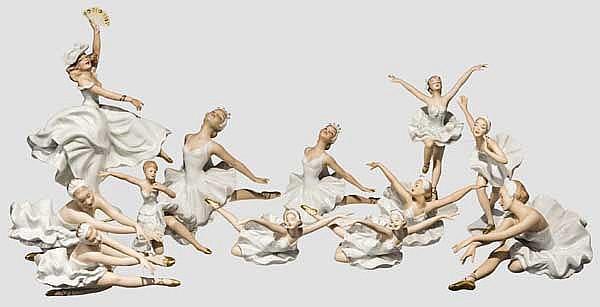 Wallendorfer Porzellan - zwölf Tänzerinnen und Ballerinen