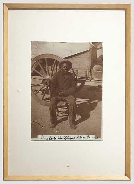 Reiter und Feldkriegsgerichtsrat der Schutztruppe - Portrait des Oberhäuptlings Cornelius Goreseb (1844 - 1910)