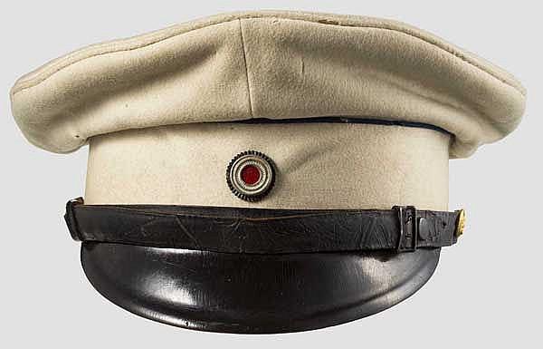 Schirmmütze für Offiziere der kaiserlichen Seebataillone zum weißem Messeanzug