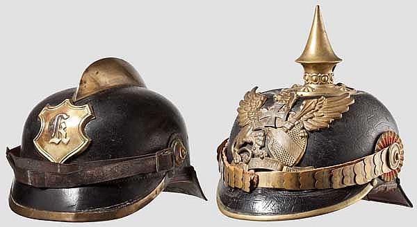 Helm für Reserveoffiziere um 1900