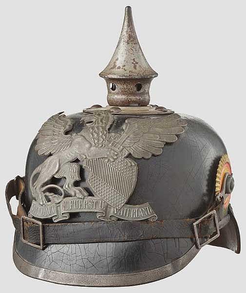 Helm für Mannschaften im 6. Badischen Infanterie-Regiment Kaiser Friedrich III., Nr. 114, nach 1897
