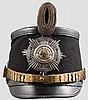 Tschako für Offiziere im Garde-Telegraphen- oder Luftschiffer-Bataillon um 1900