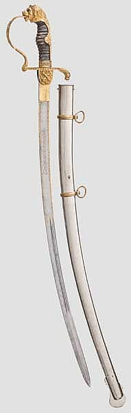 A deluxe presentation sabre for officers of the artillery, late 19th century