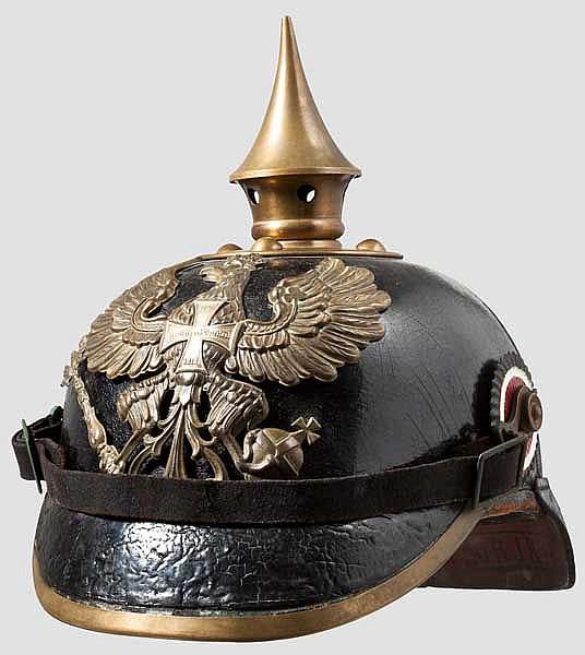 Helm für Mannschaften des Reserve-Infanterie-Regiments Nr. 20 mit zugehörigem Bezug