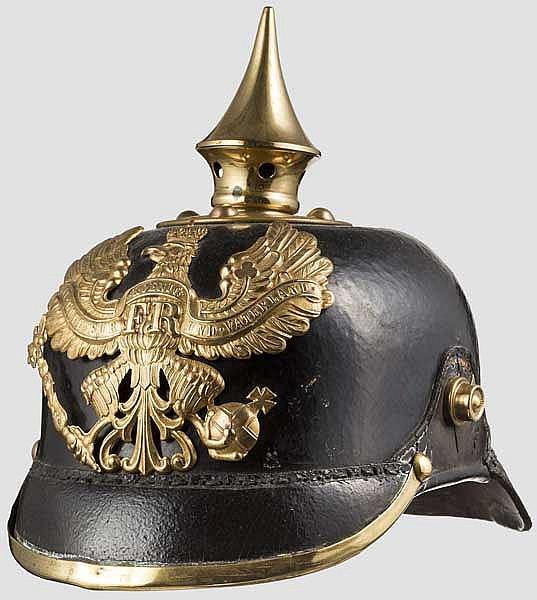 Helm um 1900 für Mannschaften/Unteroffiziere der Linien-Infanterie