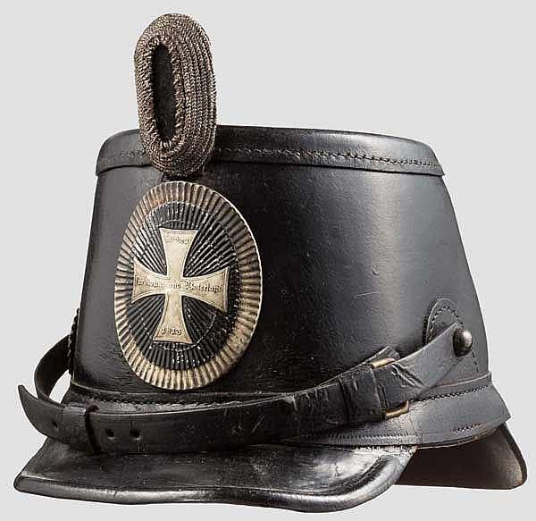 Tschako für einen Serganten der Landwehr-Infanterie-Regimenter um 1914