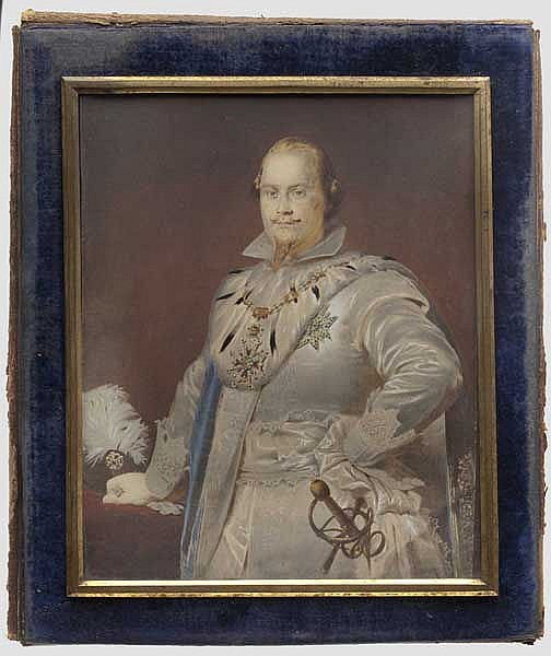 Prince Adalbert of Bavaria (1828 - 1875) - a portrait in the uniform of a Knight of St. George