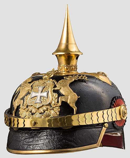 Helm für einen Reserveoffizier der Infanterie