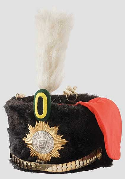 A fur cap for hussars serving in the Ordinance Gendarmerie of the Saxon Grand Duchy, 1897 – 1918