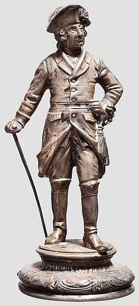 Friedrich der Große - Statuette in Silber um 1900