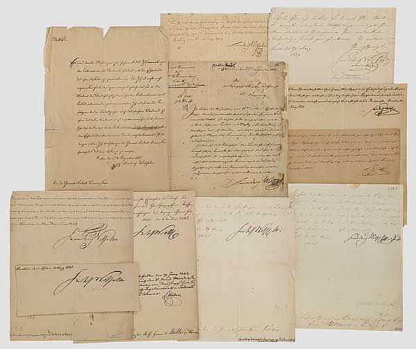 Autographensammlung Friedrich Wilhelm III. und IV.