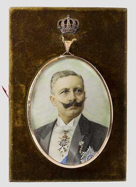 Miniaturportrait Kaiser Wilhelm II.