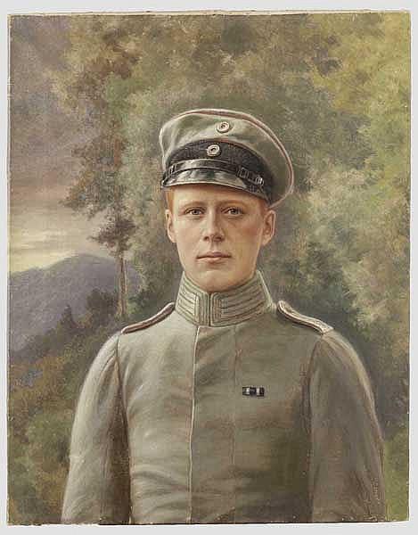 Portrait eines Leutnants der Artillerie, deutsch um 1916